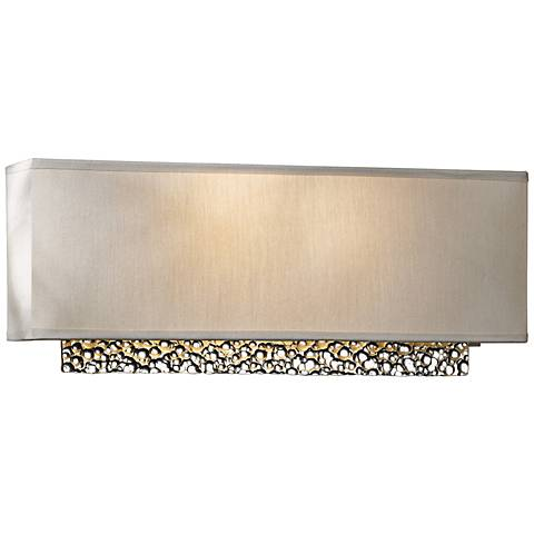 "Hubbardton Forge Oceanus 16 1/2"" Wide Platinum Wall Sconce"