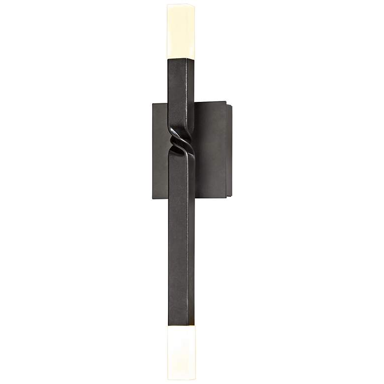 "Hubbardton Forge Helix 21"" High Dark Smoke LED"