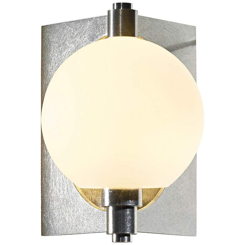 "Hubbardton Forge Pluto 8 3/4"" High Platinum Wall Sconce"