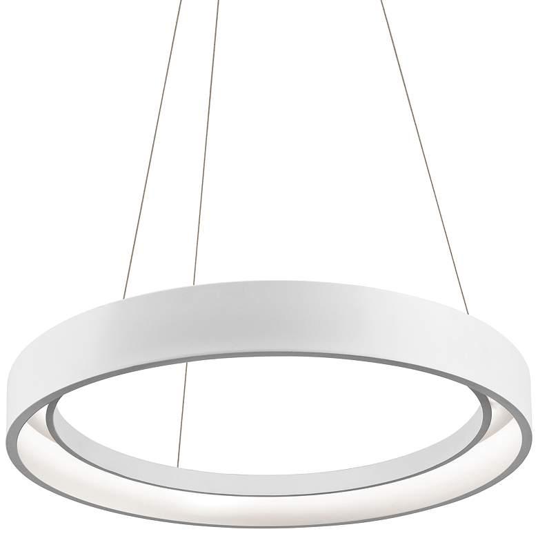 "Elan Fornello 23 1/2"" Wide Dimmable LED White Pendant Light"