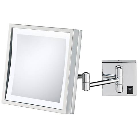 Aptations Chrome Hard-Wired LED Wall Mirror