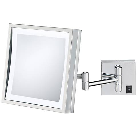 Aptations Brushed Nickel Hard-Wired LED Wall Mirror