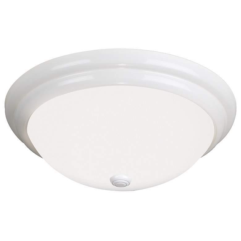 "Antique White 16"" Wide Circline Bulb Ceiling Light"