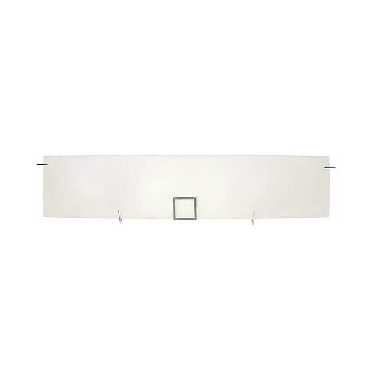 "Paxon Metal Square 33 1/2"" Wide Chrome and White Bath Light"