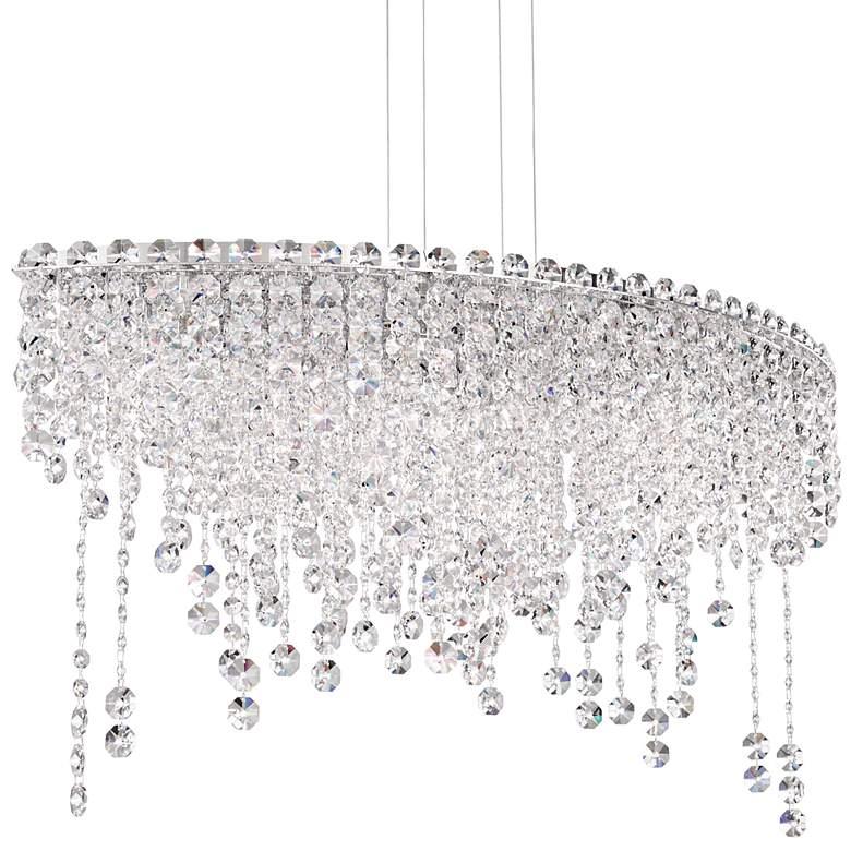 "Schonbek Chantant 33"" Wide Small Crystal Pendant Light"