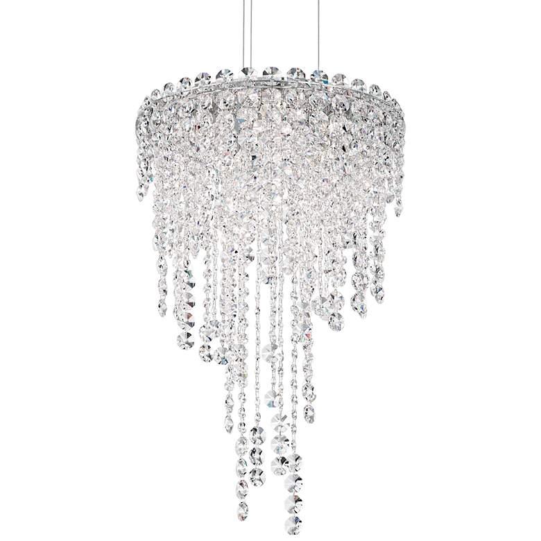 "Schonbek Chantant 14"" Wide Small Crystal Pendant Light"