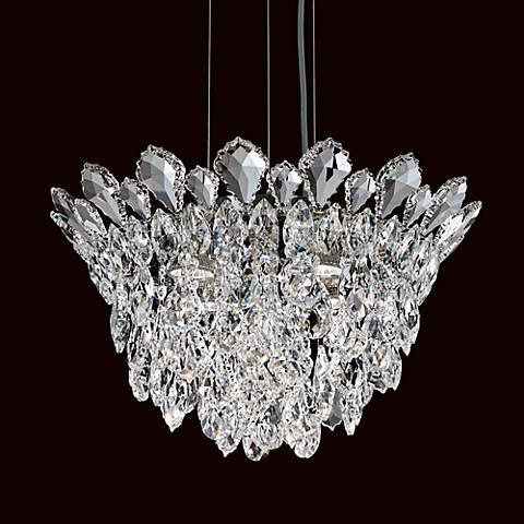 """Schonbek Trilliane Cluster 17"""" Wide Crystal Pendant Light"""