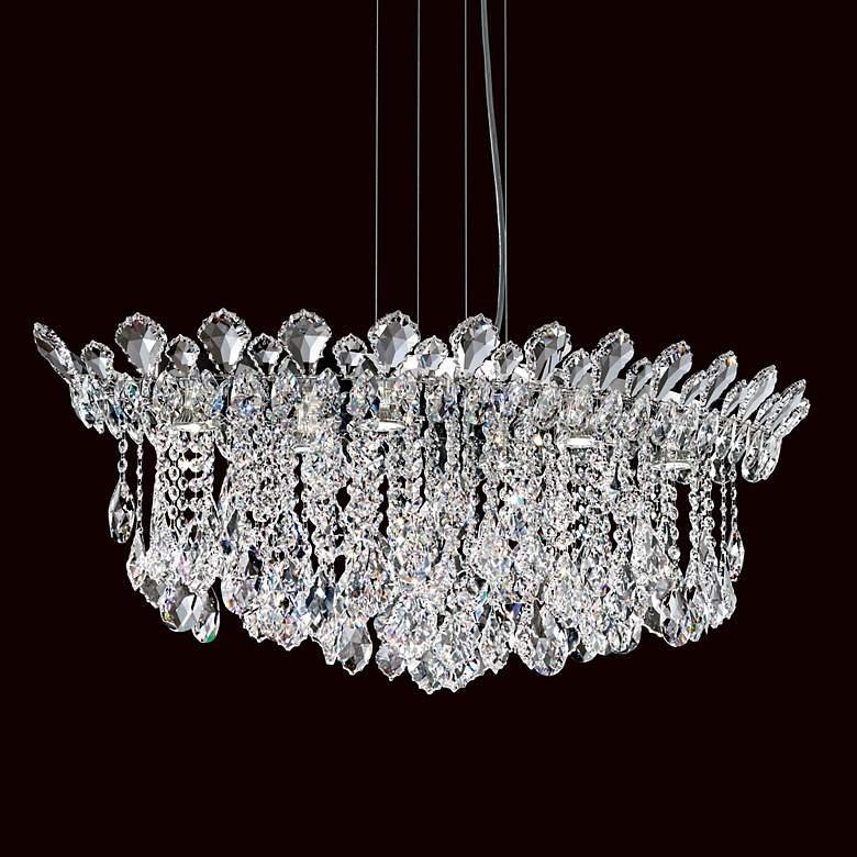 """Schonbek Trilliane Cluster 35 1/2"""" Wide Crystal Pendant"""