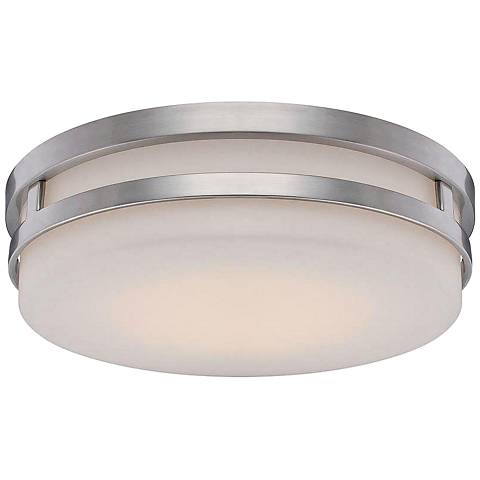 "WAC Vie 14"" Wide Brushed Nickel LED Ceiling Light"