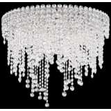 "Schonbek Chantant 24"" Wide Crystal Ceiling Light"