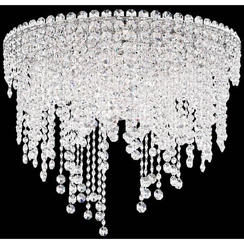 "Schonbek Chantant 24"" Wide Crystal Ceiling Light"