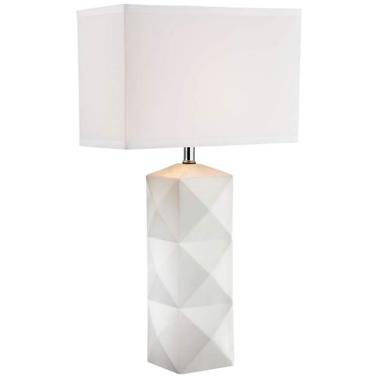 Lite Source Robena White Ceramic Table Lamp