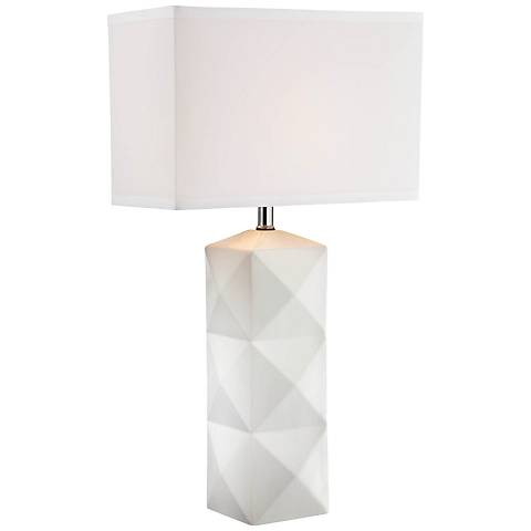 Lite Source Robena White Ceramic Table Lamp