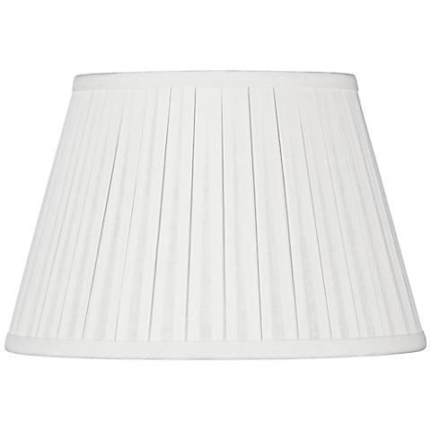 Off-White Linen Box Pleat Empire Shade 8x12x8 (Spider)