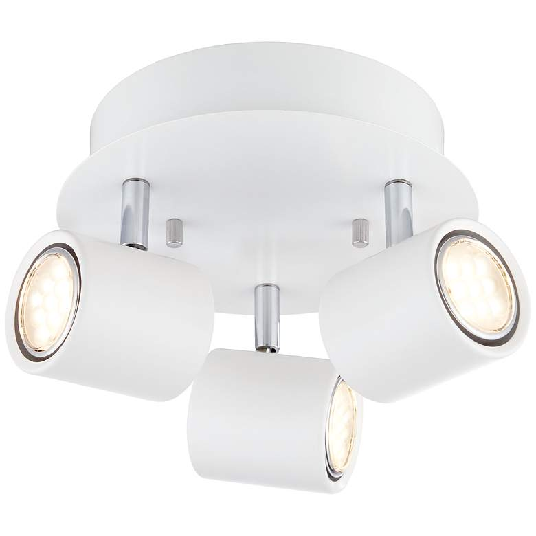 Pro Track Circle Matte White LED 3-Light Ceiling Fixture