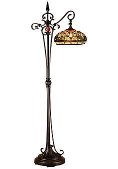 Dale Tiffany Briar Dragonfly Gl Downbridge Floor Lamp