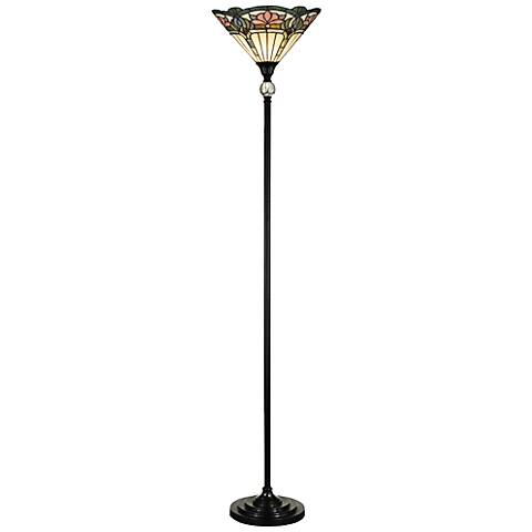 Dale Tiffany Windham Antique Bronze Torchiere Floor Lamp