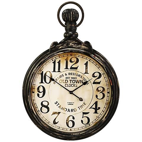 """Churchill 39"""" High Pocket Wall Clock"""