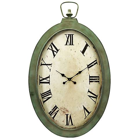 "Noran Oversized 41"" High Oval Wall Clock"