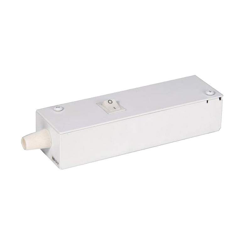 """WAC InvisiLED Pro 3 6.25"""" Wide White Wiring Box with Switch"""