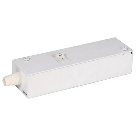 "WAC InvisiLED Pro 3 6.25"" Wide White Wiring Box with Switch"