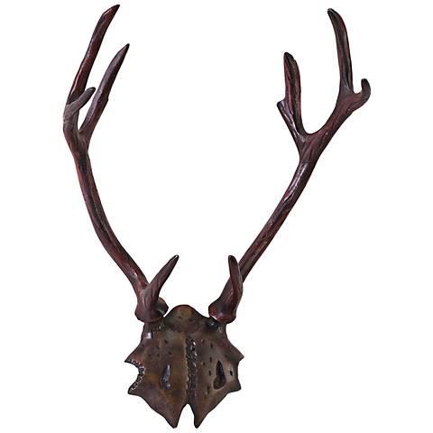 "Marshall 19"" High Aluminum Antlers Deer Head Wall Art"