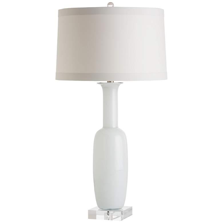 Arteriors Home Kristie White Glass Bottle Table Lamp