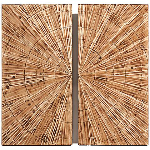 """Boyd 36 1/4"""" Square Carved Wood Wall Art"""
