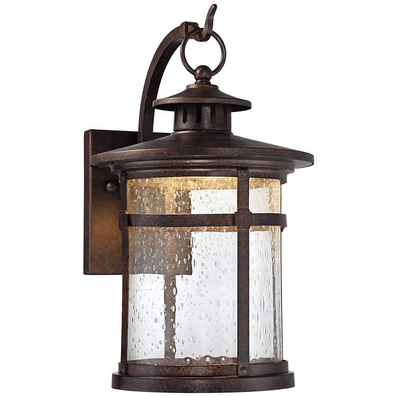 Callaway 11 1 2 High Rustic Bronze Led Outdoor Wall Light