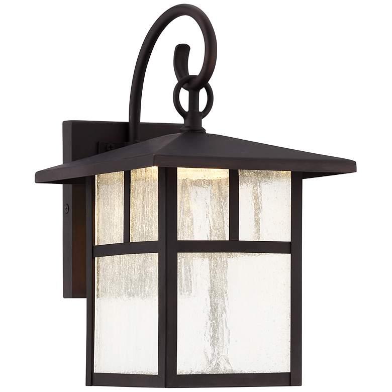 """Glenfield 12"""" High Bronze LED Outdoor Wall Light"""