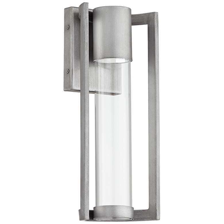 """Maxfield Silver 15"""" High LED Outdoor Wall Light"""
