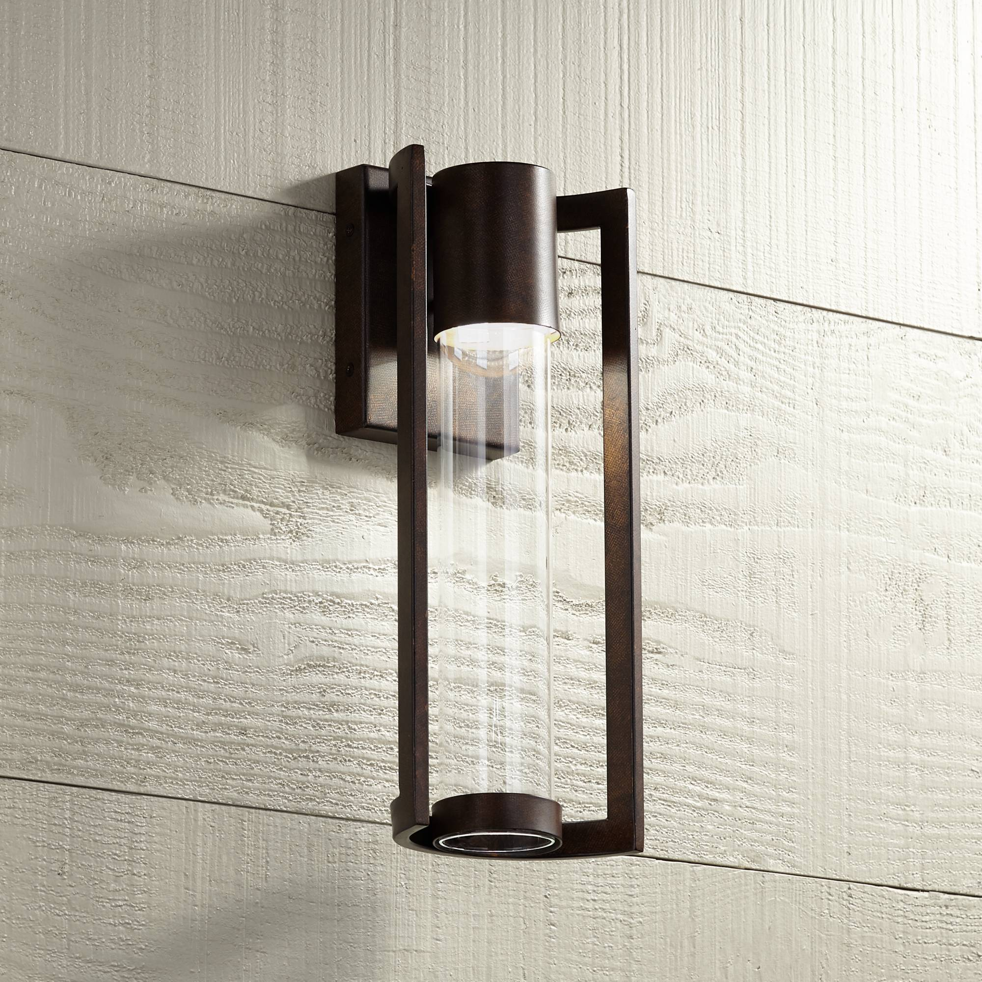 Details About Modern Outdoor Wall Light Fixture Led Bronze 15 Cylinder For House Porch Patio