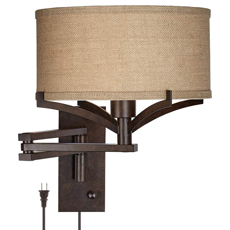 Tremont Bronze Metal Swing Arm Wall Lamp