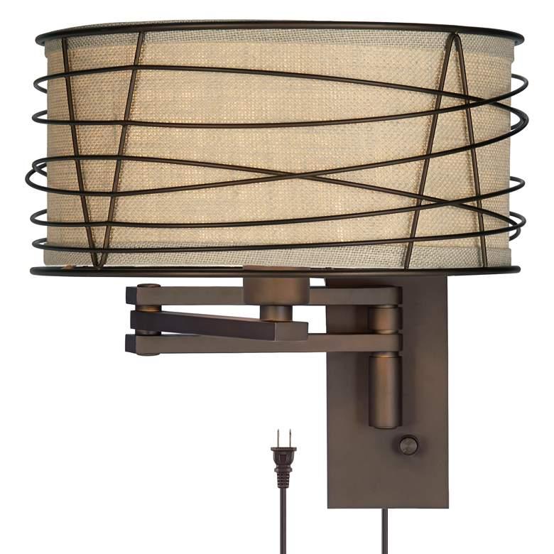 Franklin Iron Works Marlowe Bronze Metal Swing Arm Wall Lamp