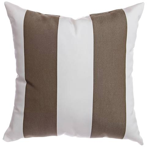 Sunbrella Striped Cocoa 18 W Indoor Outdoor Pillow 5x417 Lamps Plus