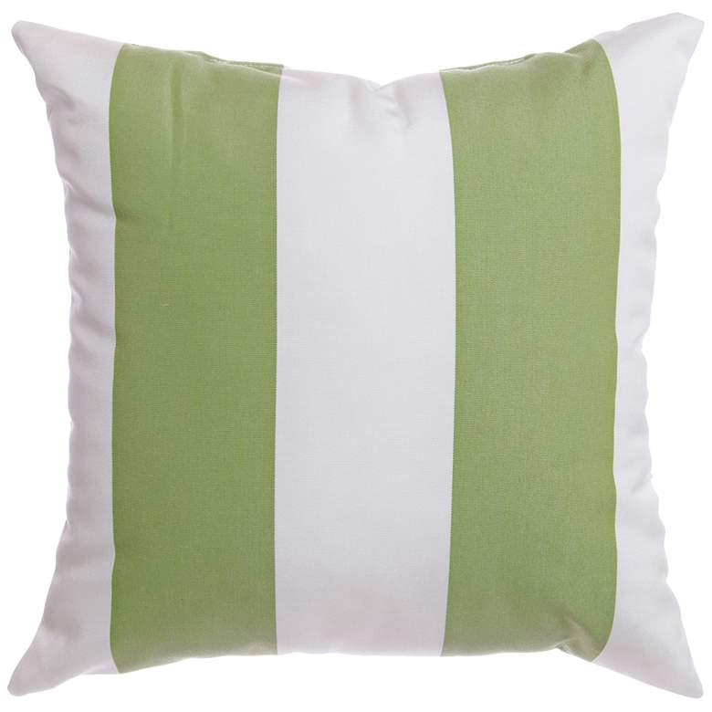"Sunbrella® Striped Natural Ginko 18"" Indoor-Outdoor Pillow"