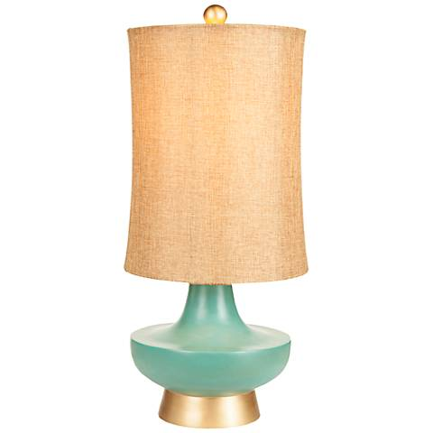 Meoghan Aged Turquoise and Gold Table Lamp