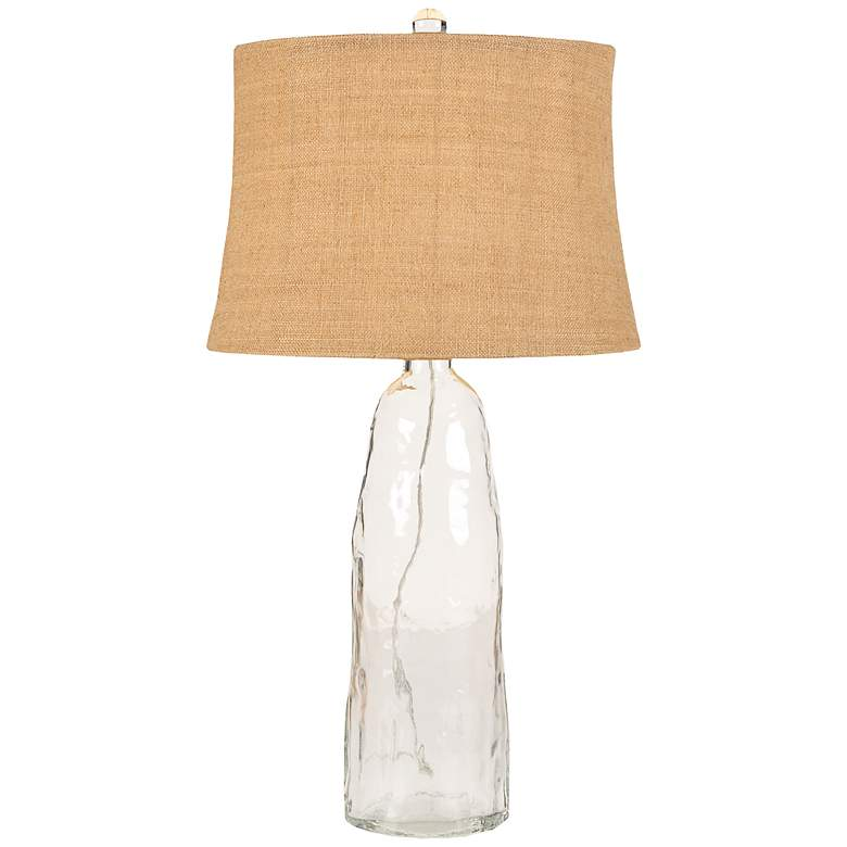 Cocar Clear Glass Table Lamp