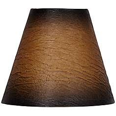 3 to 7 inch chandelier shades faux leather lamp shades lamps plus distressed faux paper empire shade 3x6x5 clip on aloadofball Image collections