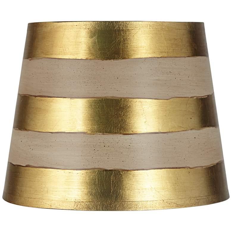Gold Stripe Paper Drum Lamp Shade 10x13x10 (Spider)