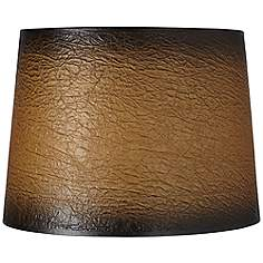 Faux leather lamp shades lamps plus distressed faux paper lamp shade 13x15x11 spider aloadofball Image collections