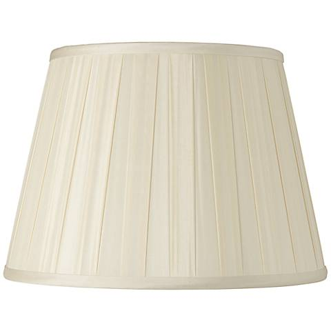 Eggshell Euro Box Pleat Silk Empire Shade 12x18x12 (Spider)