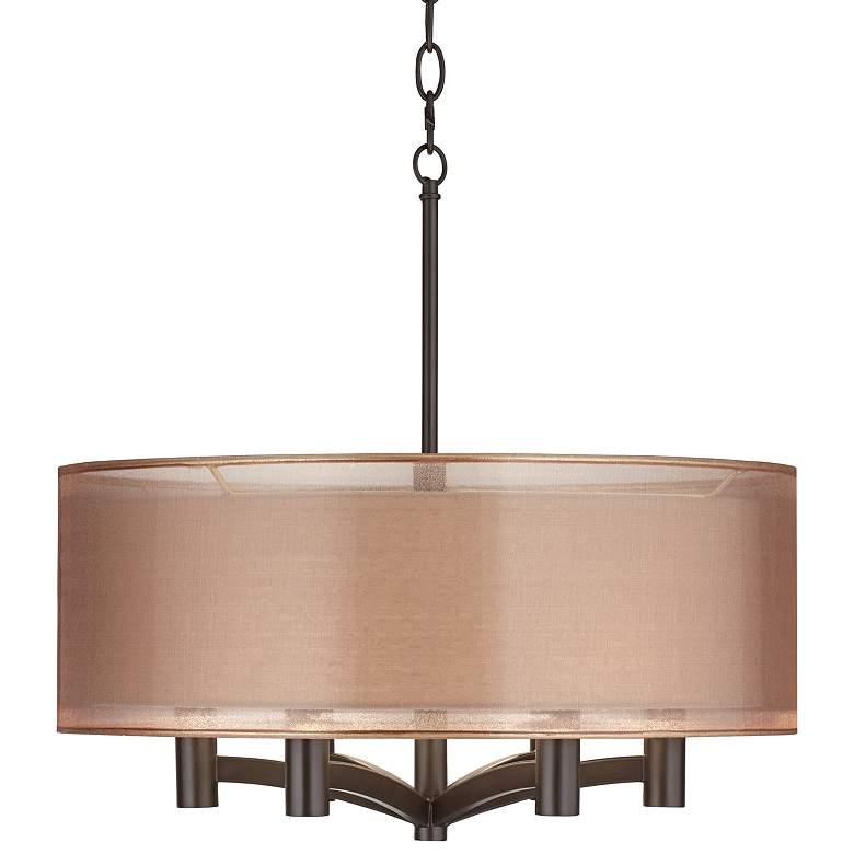 "Possini Euro Caliari 6-Light 22"" Wide Bronze Pendant Light"