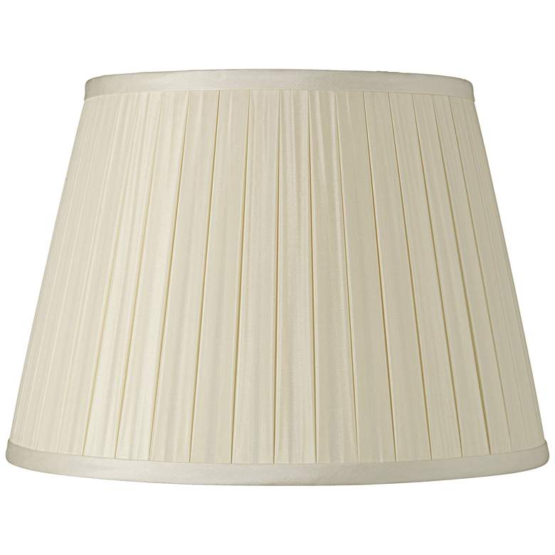 Eggshell Box Pleat Silk Shade 8x12x8 (Spider)