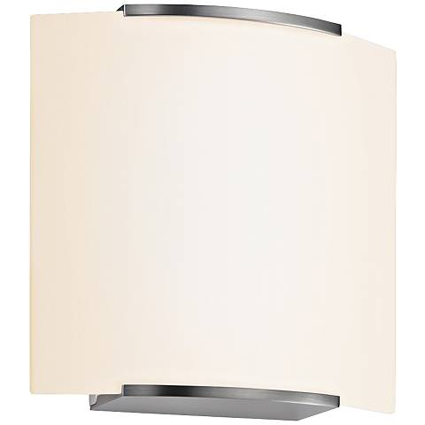 "Sonneman Wave Square 7 3/4"" High Satin Nickel Wall Sconce"