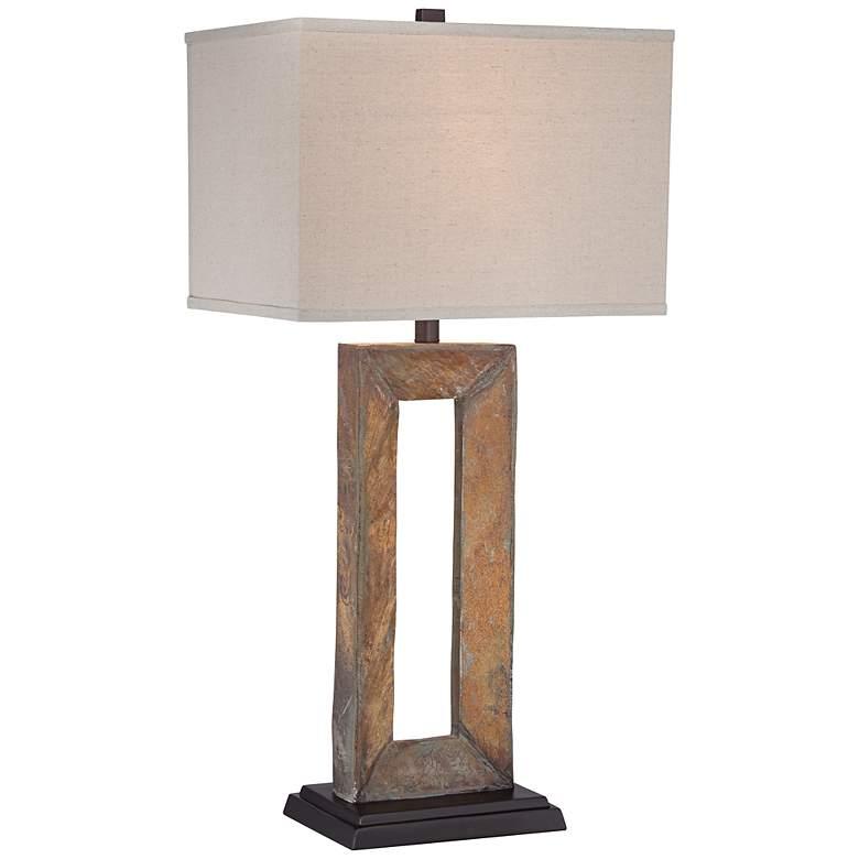 Tahoe Large Rectangular Slate Table Lamp