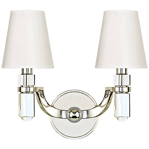 "Hudson Valley Dayton 2-Light 13 1/2""W Nickel Wall Sconce"