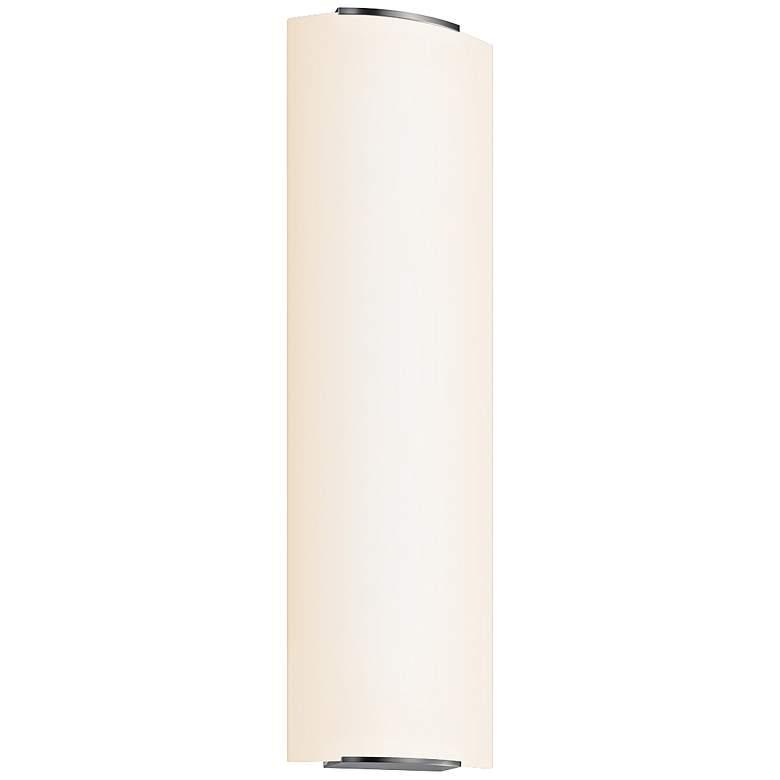 "Sonneman Wave 27 1/4"" High Nickel Vertical Bath Light"