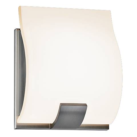 "Sonneman Aquo 6 1/4"" High Satin Nickel LED Wall Sconce"