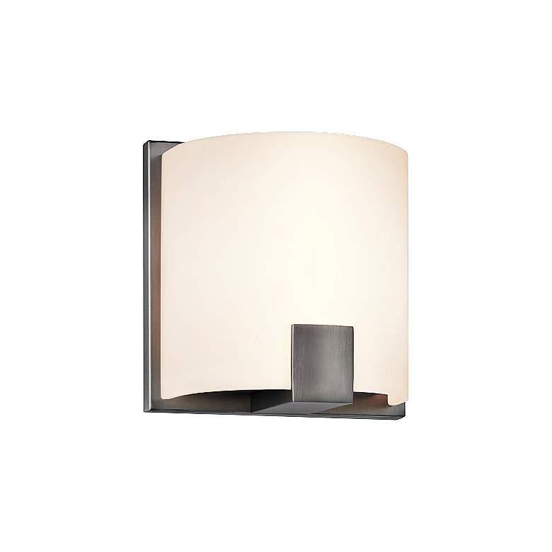 "Sonneman C-Shell 5"" High Satin Nickel LED Wall Sconce"